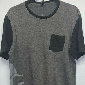 District For Men Shirt Charcoal Gray And Black